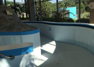 Corona und Schwimmbäder