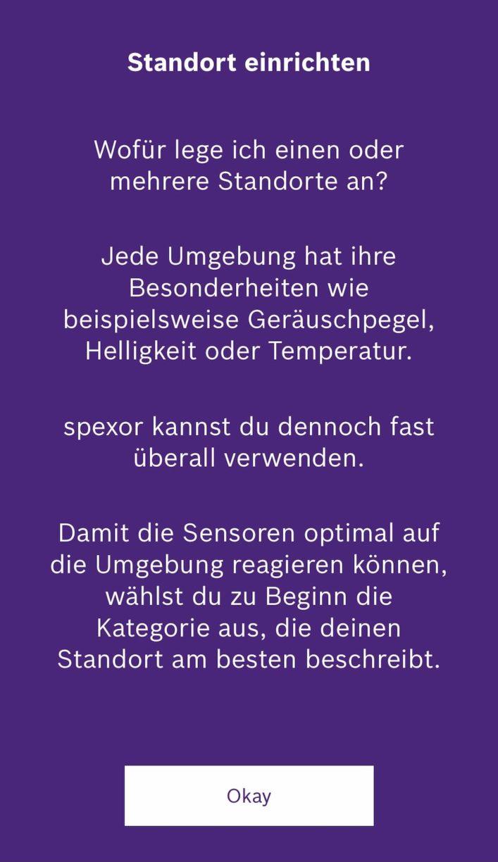 Bosch Spexor App