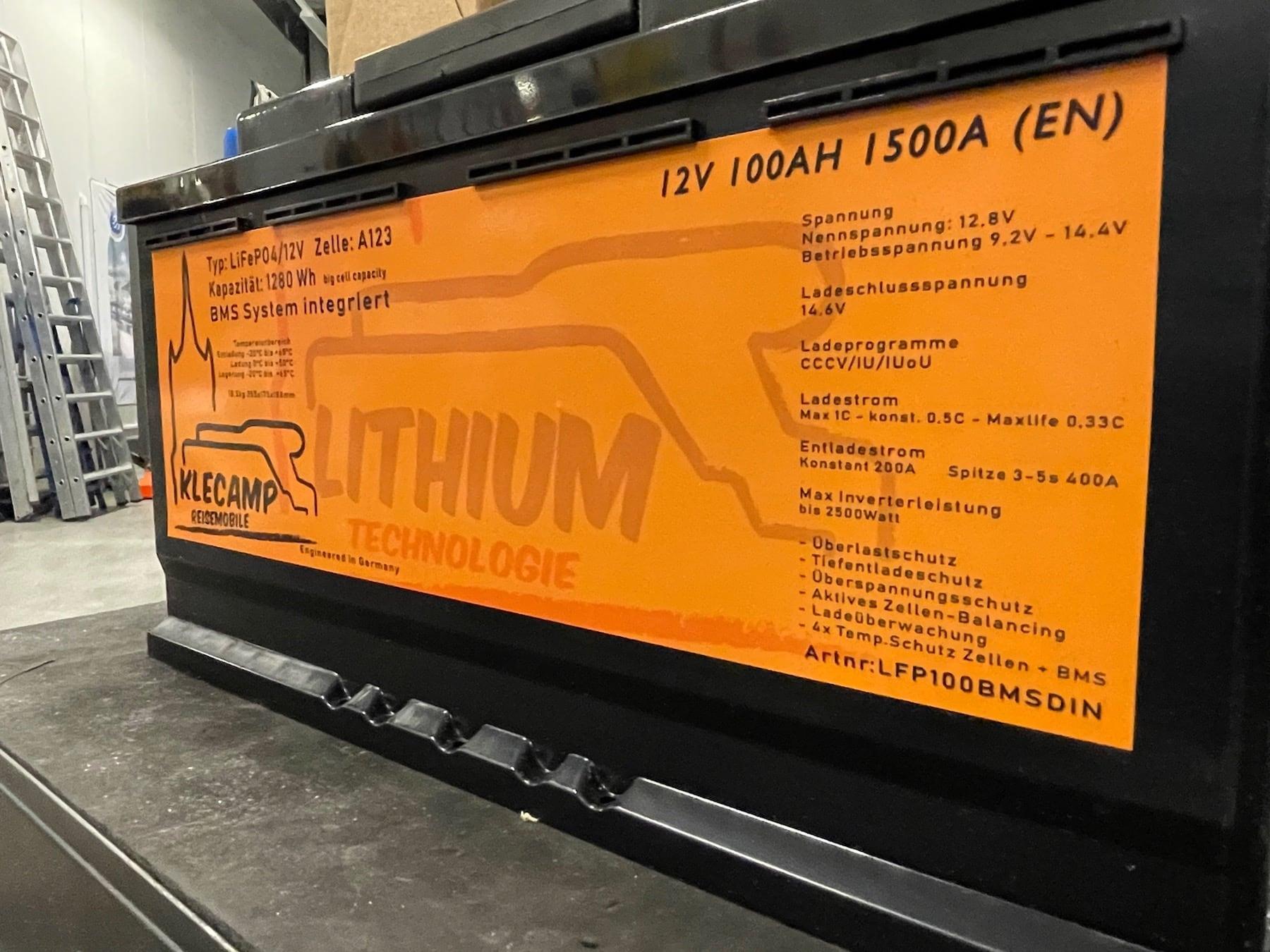 Lithium Batterie für Wohnmobile