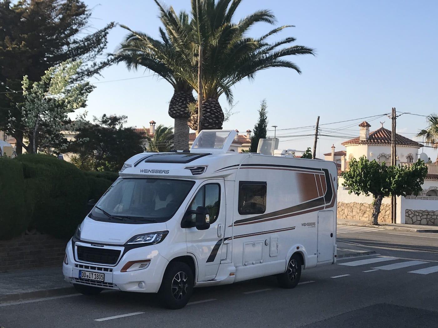 Wildes campen in Spanien