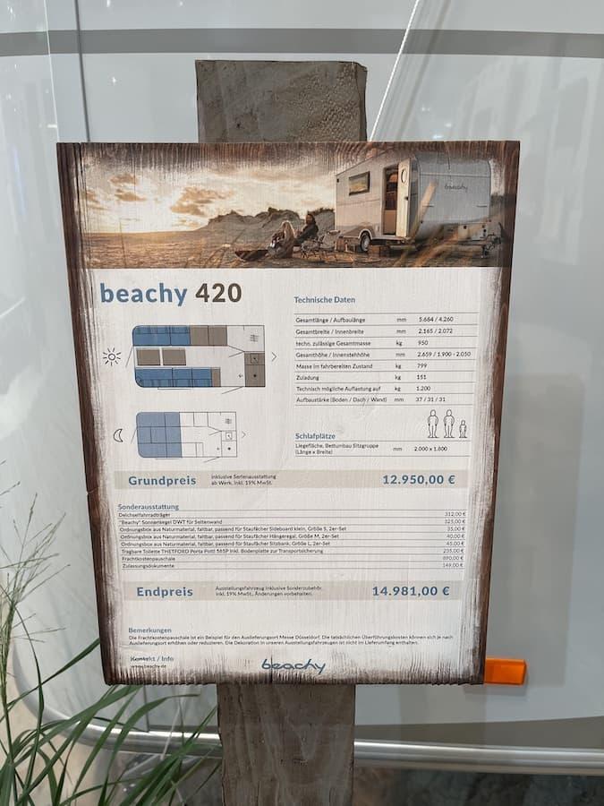 Beachy 420 Ausstattung und Preis