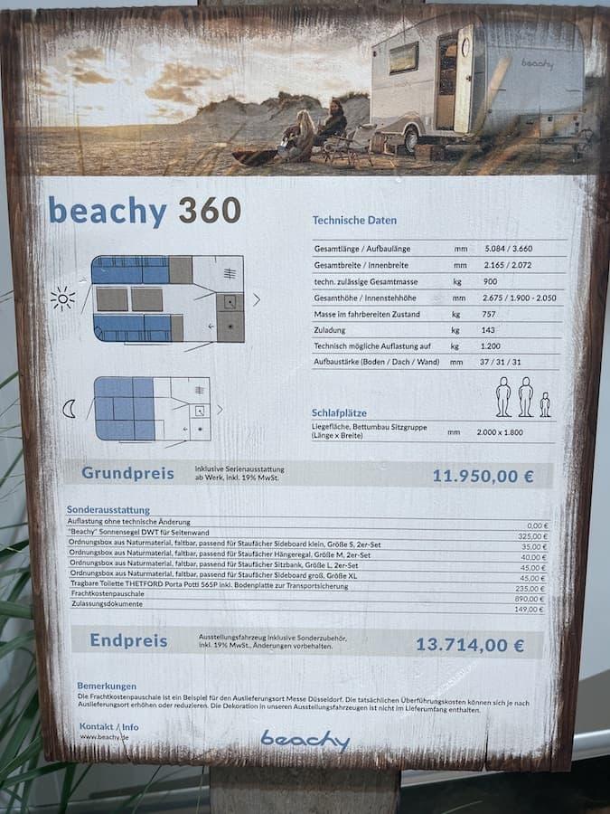 Beachy, der kleinste Caravan der Beachy Reihe