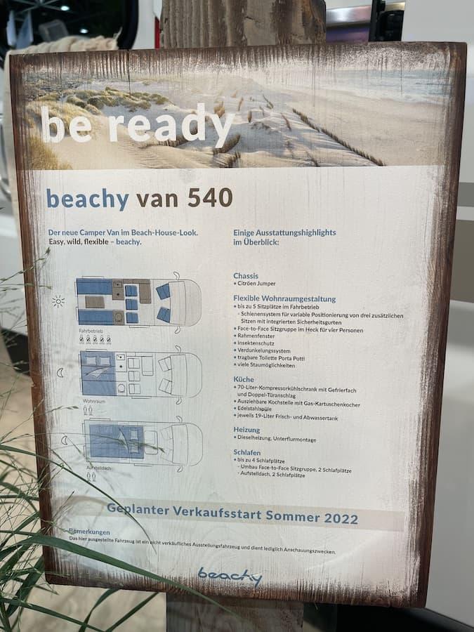 Preis und Ausstattung Beachy Van