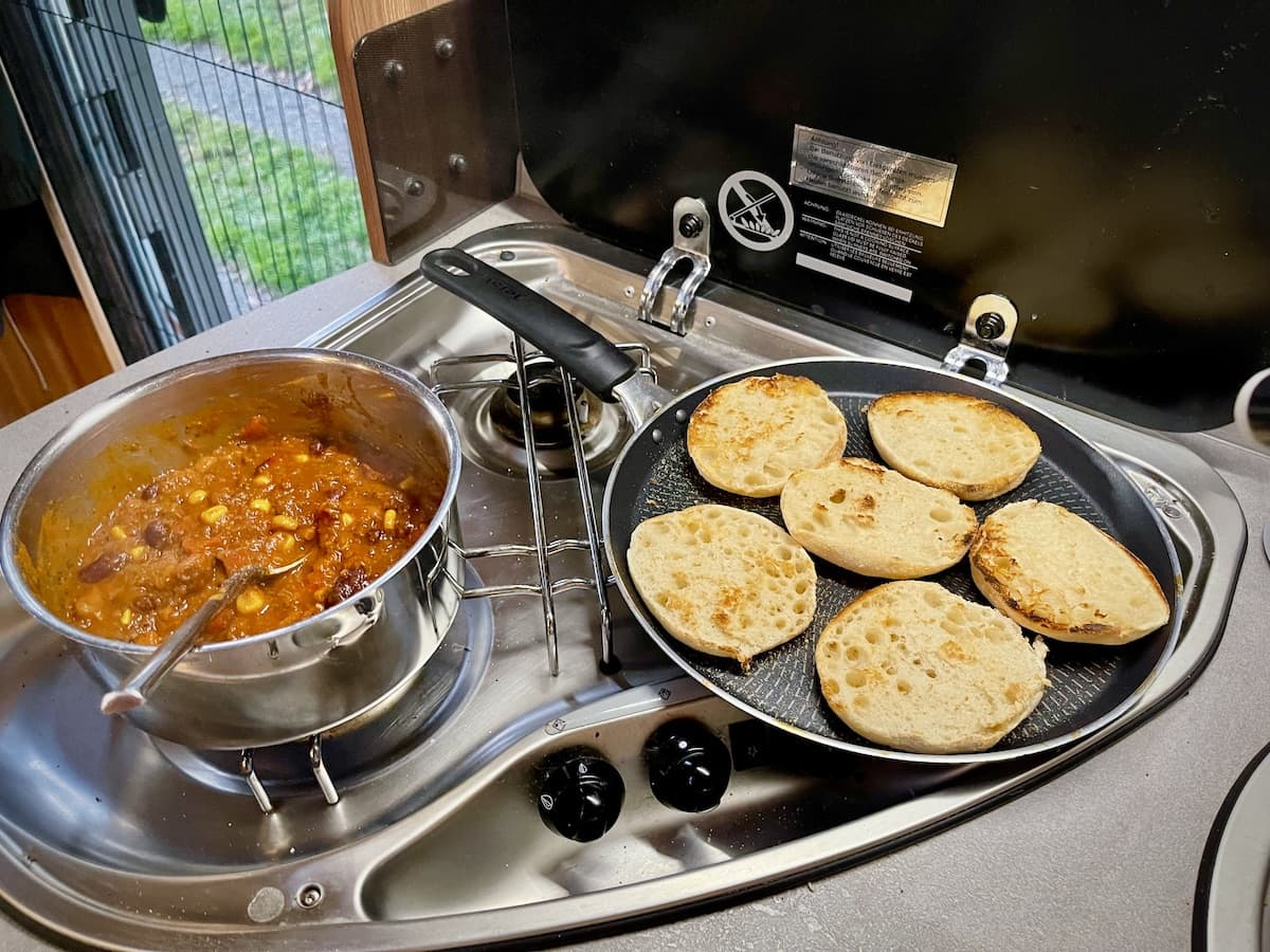 Lunchglaz der Camping Wohnmobil Test