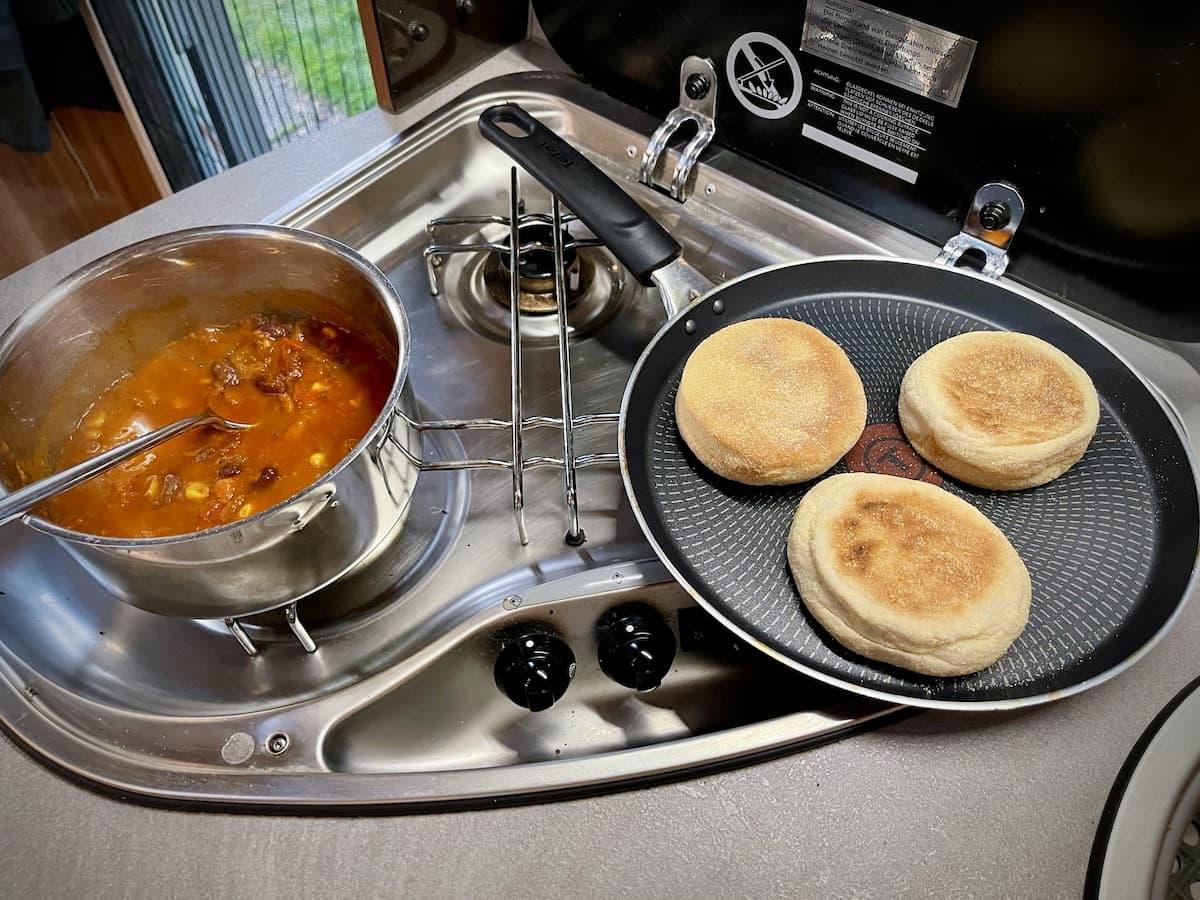 Schnelle Camper Küche, Lunchglaz im Test